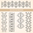 Decorative lace floral borders. — Stock Vector #27389515