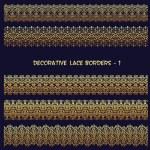 Golden decorative floral borders. — Stock Vector #27389739