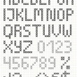 Cross stitch english uppercase alphabet — Stock Vector