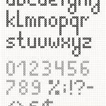 Cross stitch english lowercase alphabet — Stock Vector
