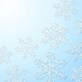 冬天背景与雪花 — 图库矢量图片