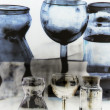 Glass Refraction Reflection — Stock Photo