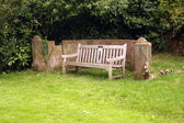Bench at Furness Abbey — Stock Photo
