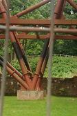 Furness Abbey Steelwork — Stock Photo