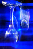 Glass Refraction in Blue — Stock Photo