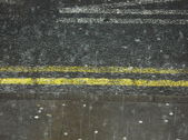 Manchester Rain Double Yellows — Stock Photo