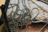 Old Rope on board — Stock Photo