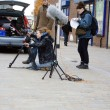 Filming in the High Street 08 — Stock Photo
