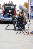 Filming in the High Street 11 — Stock Photo