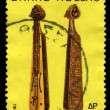 A stamp printed by Greece, shows Pontos Lyre — Stock Photo