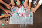 Merry christmas word — Stock Photo