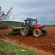 Agricultural tractor sowing seeds — Stockfoto #36714697