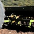 Stock Video: Agricultural tractor sowing seeds
