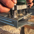 Stock Video: Wood router