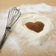 Stock Photo: Valentines Day, heart of brawn sugar