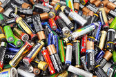 Different types of used batteries ready for recycling — Stock Photo
