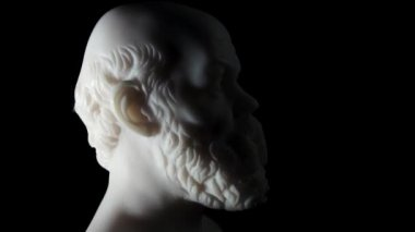 Socrates lived in Athens (470 BC - 399 BC) was a Greek Athenian philosopher — Stock Video