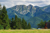 Giewont from Gubalowka. — Stock Photo