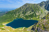 Czarny Staw Gasienicowy from Koscielec mountain. — Stock Photo