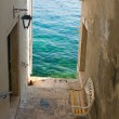Narrow stone street of Rovinj, Croatia — Stock Photo #14212029