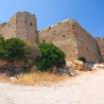 Kritinia castle, Rhodes island, Greece — Stock Photo