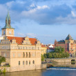 Vltava river embankment, Prague, Czech Republic — Stock Photo #14212985