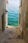 Narrow stone street of Rovinj, Croatia — Foto de Stock