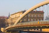 Bridge over Vistula river at sunset time, Krakow, Poland — Stock Photo