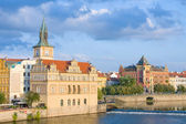 Vltava river embankment, Prague, Czech Republic — Stock Photo
