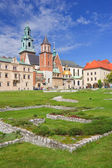 Wawel Cathedral, The Cathedral Basilica of Sts. Stanislaw and Va — Stock Photo