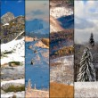 Royalty-Free Stock Photo: Winter colors mountain collage