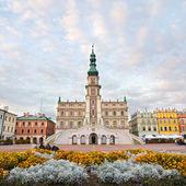 Town Hall, Main Square (Rynek Wielki), Zamosc, Poland — Stockfoto
