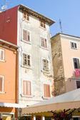 Narrow stone street of Rovinj, Croatia — Stock Photo