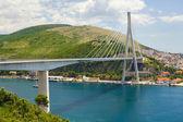 Franjo Tudjman Bridge, Dubrovnik, Croatia — Stock Photo