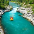 Rafting in the green canyon, Alanya, Turkey - Stock Photo