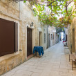 Small street in Pag, Croatia — 图库照片