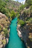 Rafting in the green canyon, Alanya, Turkey — Stock Photo