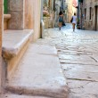 Street in the small town Rovin, Croatia — Stock Photo
