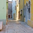 Street in the small town Vodnjan, Croatia — Stock Photo