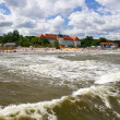 View from the pier on the architecture of Sopot, Poland - Stock Photo