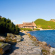 Summer in 5 lakes valley in High Tatra Mountains - Foto Stock
