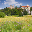 Benedictine monastery and Saint Peter and Paul church on the rocky hill by the Vistula river in Tyniec near Cracow, Poland — Stock Photo #18154773