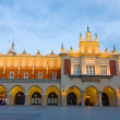 Stock Photo: Poland, Krakow. Market Square at night.