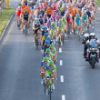 Krakow, POLAND - august 6: Cyclists at stage 7 of Tour de Pologne bicycle race on August 6, 2011 in Krakow, Poland. TdP is part of prestigious UCI World Tour. - Stock Photo