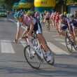 Krakow, POLAND - august 6: Cyclists at stage 7 of Tour de Pologne bicycle race on August 6, 2011 in Krakow, Poland. TdP is part of prestigious UCI World Tour. — Stock Photo