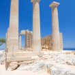 Ruins of ancient temple. Lindos. Rhodes island. Greece — Stock Photo #18155007