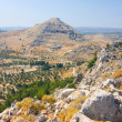 Panoramic view of Rhodes mountain. Rhodes island. Greece. — Lizenzfreies Foto