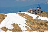 Prachtige bergpanorama van hoge tatra bergen in voorjaar se — Stockfoto