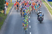 Krakow, POLAND - august 6: Cyclists at stage 7 of Tour de Pologne bicycle race on August 6, 2011 in Krakow, Poland. TdP is part of prestigious UCI World Tour. — Foto Stock