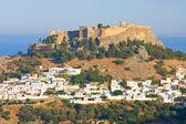Lindos, rhodes, griekenland — Stockfoto